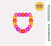 colorful lei vector icon   Shutterstock .eps vector #593023316