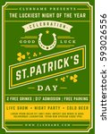 saint patricks day retro... | Shutterstock .eps vector #593026556