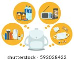 the emergency goods | Shutterstock .eps vector #593028422