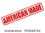 american made red stamp text on ... | Shutterstock .eps vector #593036762