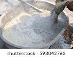 cement mix concrete is... | Shutterstock . vector #593042762