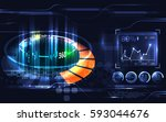 abstract digital hi technology... | Shutterstock .eps vector #593044676