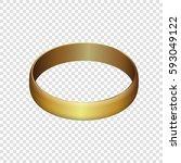 golden wedding ring vector illustration isolated