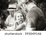 three generations family... | Shutterstock . vector #593049146