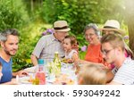 three generations of the same... | Shutterstock . vector #593049242