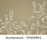 flower decoratively... | Shutterstock .eps vector #59305891