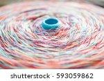 the multicolored filament... | Shutterstock . vector #593059862