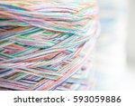 the multicolored filament... | Shutterstock . vector #593059886