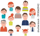 people of various ages with... | Shutterstock .eps vector #593060942