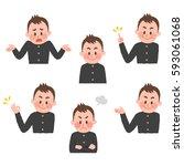 illustration of various facial... | Shutterstock .eps vector #593061068
