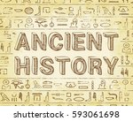 ancient history text and... | Shutterstock .eps vector #593061698