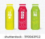 bottle of juice  sugar water ... | Shutterstock .eps vector #593063912