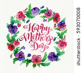 greeting card happy mother's... | Shutterstock . vector #593070008