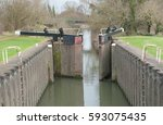 towney lock on the kennet and... | Shutterstock . vector #593075435