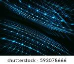 abstract technology network... | Shutterstock . vector #593078666