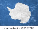 antarctica   antarctic flag on... | Shutterstock . vector #593107688