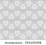 cubes  hexagons and rhombs... | Shutterstock .eps vector #593109398