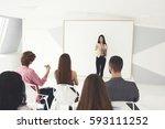 professional business coach... | Shutterstock . vector #593111252