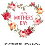 happy mother's day. vector... | Shutterstock .eps vector #593116922