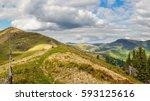 view on mountain peaks.... | Shutterstock . vector #593125616
