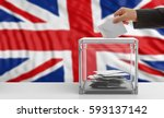 voter on an waiving great... | Shutterstock . vector #593137142