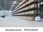 interior of a warehouse | Shutterstock . vector #59314054