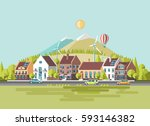 green energy and eco friendly... | Shutterstock .eps vector #593146382