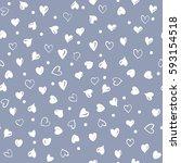 vector seamless retro pattern ... | Shutterstock .eps vector #593154518