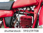 classic motorcycle closely | Shutterstock . vector #593159708