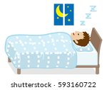 sleeping men  light blue color... | Shutterstock .eps vector #593160722