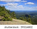 mountaintop view - stock photo