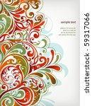 floral background | Shutterstock .eps vector #59317066