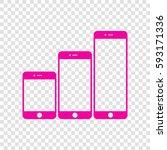 smartphones with three sizes... | Shutterstock .eps vector #593171336