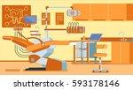 dentist office illustrations | Shutterstock . vector #593178146