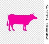 cow sign illustration. vector.... | Shutterstock .eps vector #593180792