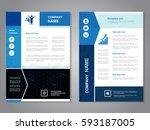 vector modern brochure with... | Shutterstock .eps vector #593187005
