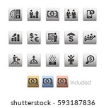 financial strategies icons  ... | Shutterstock .eps vector #593187836