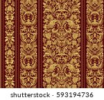 striped seamless pattern on... | Shutterstock .eps vector #593194736