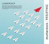 business leadership concept... | Shutterstock .eps vector #593197442