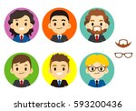 vector set of different male... | Shutterstock .eps vector #593200436