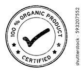 grunge black 100 percent... | Shutterstock .eps vector #593207552