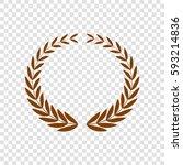 laurel wreaths sign. vector.... | Shutterstock .eps vector #593214836