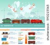 cargo train  global transport... | Shutterstock .eps vector #593215565