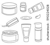 vector set of topical cosmetic... | Shutterstock .eps vector #593224028