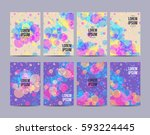 design template with circles... | Shutterstock .eps vector #593224445