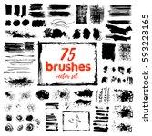 hand draw sketch paintbrush set.... | Shutterstock .eps vector #593228165