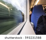 high speed train | Shutterstock . vector #593231588