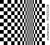 geometric black and white... | Shutterstock .eps vector #593232128