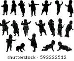 illustration with child... | Shutterstock .eps vector #593232512