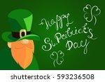 happy st. patrick's day... | Shutterstock . vector #593236508